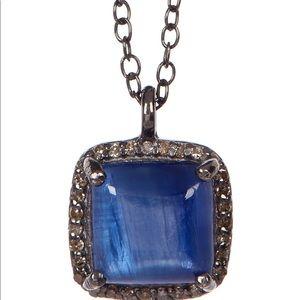Adornia Blue Kyanite Diamant Halo Pengat